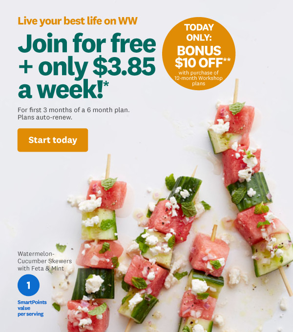 Join for free + only $3.85 a week!