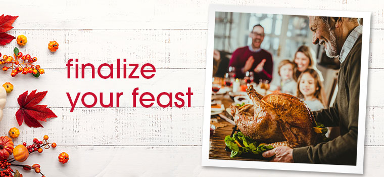Finalize Your Feast